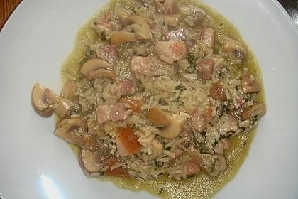 Reispfanne mit Pilzen 2