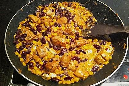 Mexikanische Hähnchen-Mais-Pfanne 2