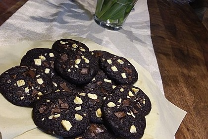 Triple Chocolate Cookies 1