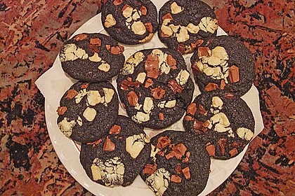Triple Chocolate Cookies 17