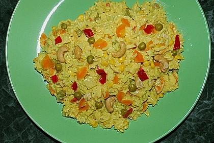 Exotischer Curry - Reissalat