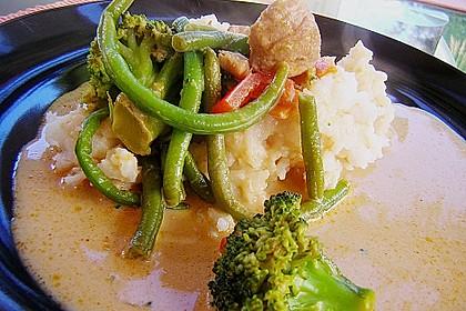Asiatisches Curryhuhn