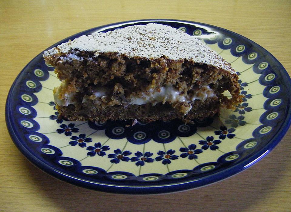 Karotten Bananen Kuchen Mit Walnussen Von Mys73 Chefkoch De
