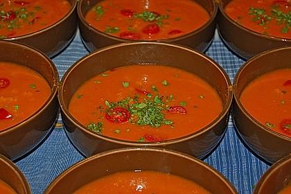 Tomatensuppe mit Möhren und Koriander 2