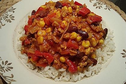 Chili sin Carne mit Sojageschnetzeltem 4