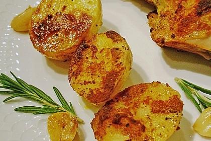Ofenkartoffeln mit Feuer 3