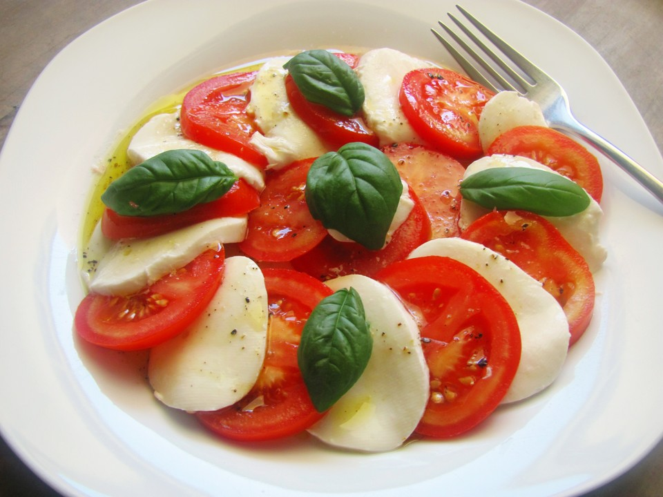 Tomate mozzarella dressing balsamico