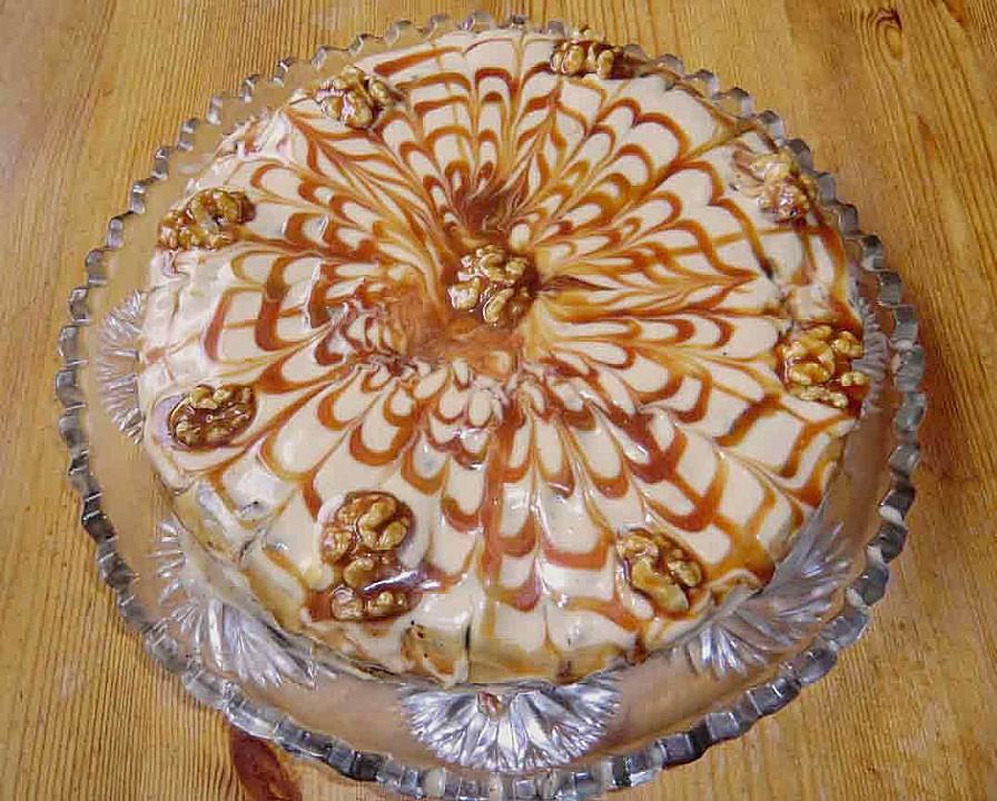 Apfel Walnuss Torte Mit Karamell Cream Cheese Frosting Von