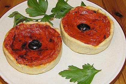Tarteletts mit Tomatencremefüllung 2