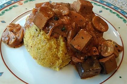 Tofu in Rotwein - Buttermilchsauce (Bild)