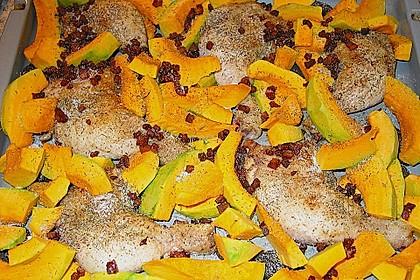 Brathähnchen mit Süßkartoffeln und Butternut-Kürbis 16