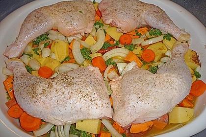 Brathähnchen mit Süßkartoffeln und Butternut-Kürbis 13