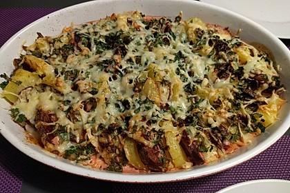 Kartoffel - Rote Bete - Auflauf (Bild)