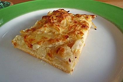 Zwiebelkuchen badische Art - vegetarische Variante 3