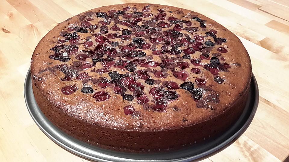 Rezept kuchen mit kirschen und schokolade