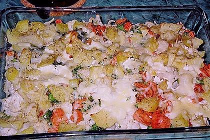Herzhafter Gemüseauflauf mit Käsekruste 2