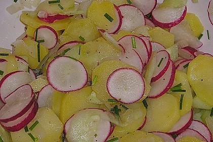 Schneller Kartoffel - Radieschen - Salat 6