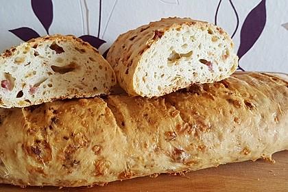 Zwiebel-Käse-Schinken-Brot 2