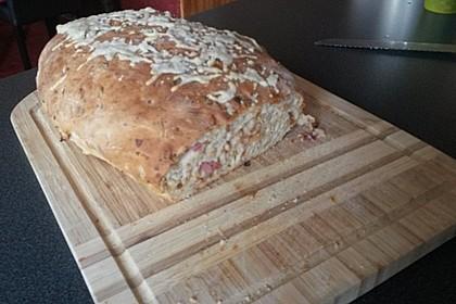 Zwiebel-Käse-Schinken-Brot 49