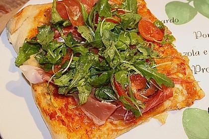 Rucola - Pizza mit Parmaschinken 7