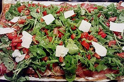Rucola - Pizza mit Parmaschinken 18