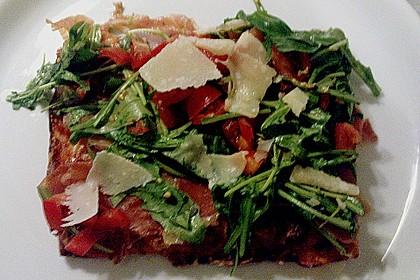 Rucola - Pizza mit Parmaschinken 42