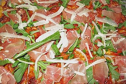Rucola - Pizza mit Parmaschinken 16