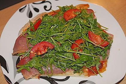 Rucola - Pizza mit Parmaschinken 34