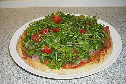Rucola - Pizza mit Parmaschinken 31