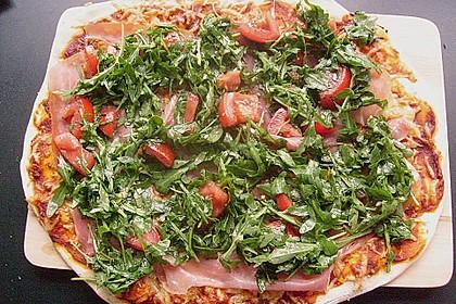 Rucola - Pizza mit Parmaschinken 35