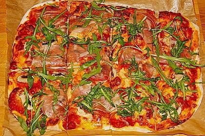 Rucola - Pizza mit Parmaschinken 19