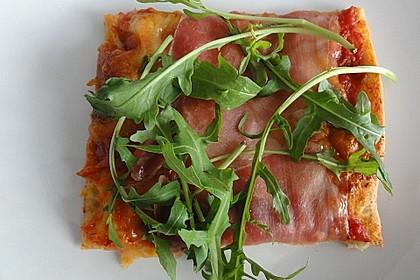 Rucola - Pizza mit Parmaschinken (Bild)