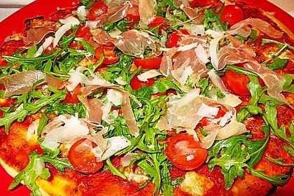 Rucola - Pizza mit Parmaschinken 20