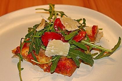 Rucola - Pizza mit Parmaschinken 3