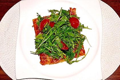 Rucola - Pizza mit Parmaschinken 24
