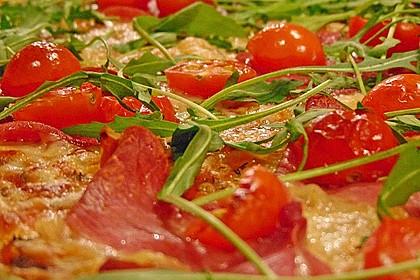 Rucola - Pizza mit Parmaschinken 9
