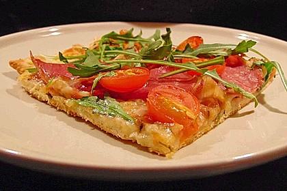 Rucola - Pizza mit Parmaschinken 4