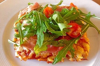 Rucola - Pizza mit Parmaschinken 5