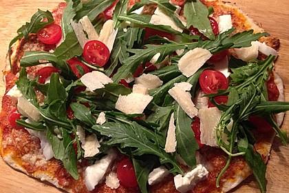 Rucola - Pizza mit Parmaschinken 11