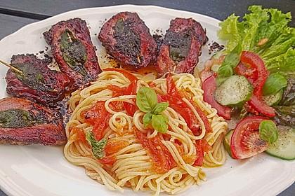 Spaghetti mit frischen Tomaten 4