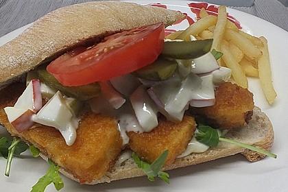 Fischstäbchen-Burger 1