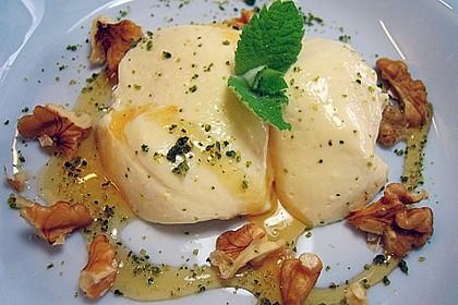 Mousse von griechischem Joghurt mit Honig und Walnüssen 4