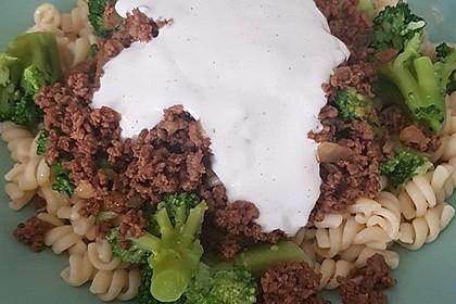 Brokkoli - Hackfleisch - Nudeln mit Joghurt 43