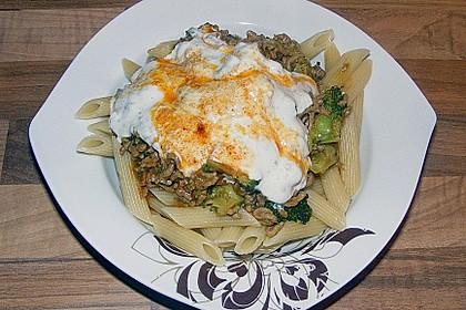 Brokkoli - Hackfleisch - Nudeln mit Joghurt 25