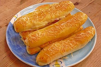 Schinken - Käse Stangen 4