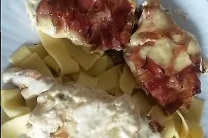 Schweinefilet in Bacon mit Frischkäsesoße überbacken 18