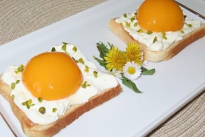 Spiegelei auf Toast (süß) (Bild)