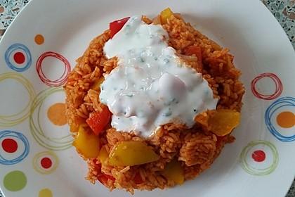 Paprika-Reispfanne mit Joghurtsauce 21
