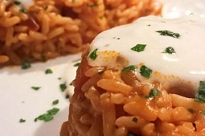Paprika-Reispfanne mit Joghurtsauce 18
