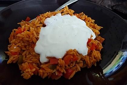 Paprika-Reispfanne mit Joghurtsauce 33